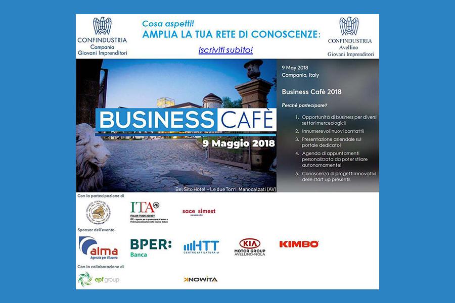 Business Cafè, prenota la tua agenda di incontri per il 9 maggio!