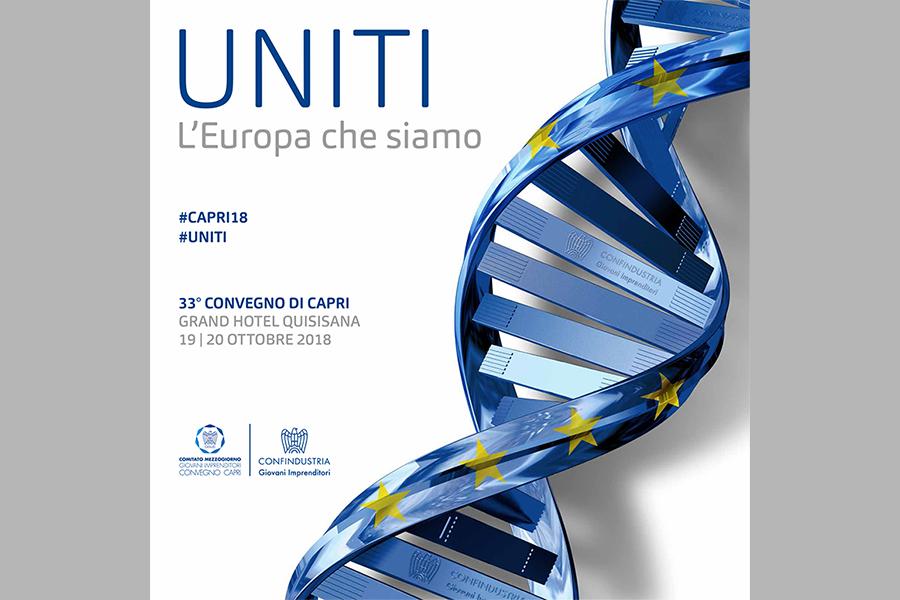 """Al via il 33° Convegno di Capri """"UNITI. L'Europa che siamo"""""""