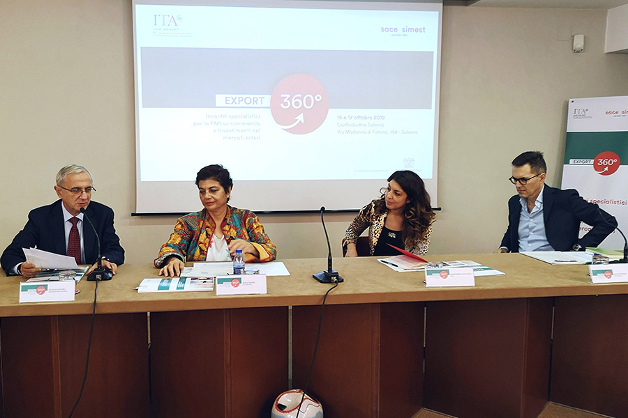 EXPORT 360°, 80 partecipanti in rappresentanza del tessuto imprenditoriale del centro-sud Italia - Costozero, magazine di economia, finanza, politica imprenditoriale e tempo libero - Confindustria Salerno