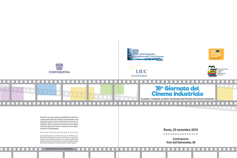 18° Giornata del cinema industriale. Il cinema, l'industria, la storia