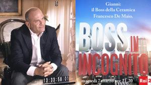 Ceramica Francesco De Maio a Boss in Incognito