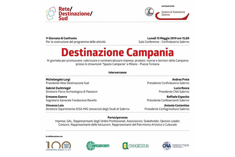 Destinazione Campania, presentazione lunedì 13 maggio in Confindustria Salerno - Costozero, magazine di economia, finanza, politica imprenditoriale e tempo libero - Confindustria Salerno
