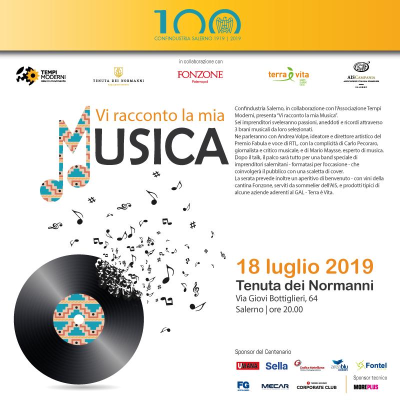 VI RACCONTO LA MIA MUSICA, il 18 luglio a Tenuta dei Normanni - Costozero, magazine di economia, finanza, politica imprenditoriale e tempo libero - Confindustria Salerno