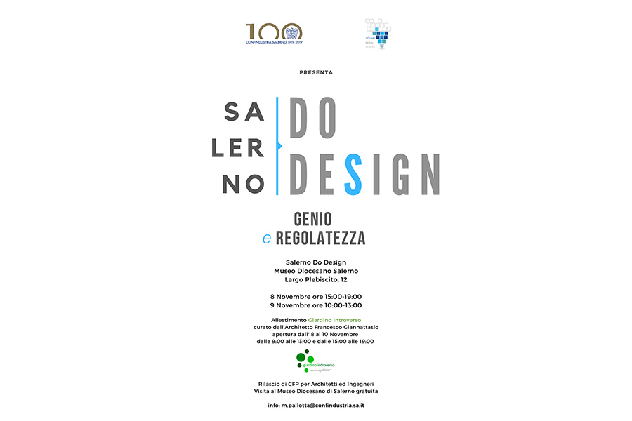 Sta per arrivare Salerno Do Design, l'8 e 9 novembre al Museo Diocesano di Salerno